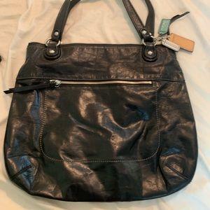 Basic black Coach purse - large!